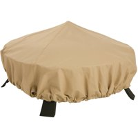 "Classic Accessories Terrazzo Fire Pit Cover Round - All Weather Protection Outdoor Furniture Cover, 44""DIA, Sand"
