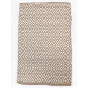 CLM Boston Diamond Beige/White Area Rug