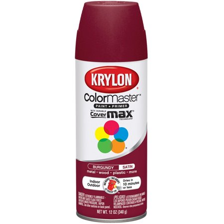 Colormaster Indoor/Outdoor Aerosol Paint 12oz Burgandy
