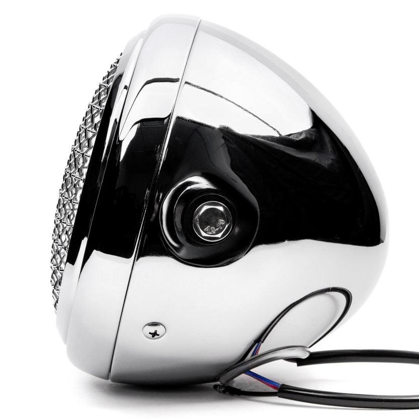 "Krator 7"" Chrome LED Motorcycle Headlight Side Mounting Running Light High / Low Beam - image 1 de 7"