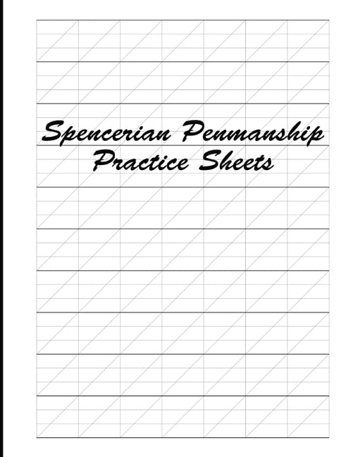 Spencerian Penmanship Practice Sheets : Cursive Style Handwriting Worksheets  For Kids And Adults (Paperback) - Walmart.com - Walmart.com