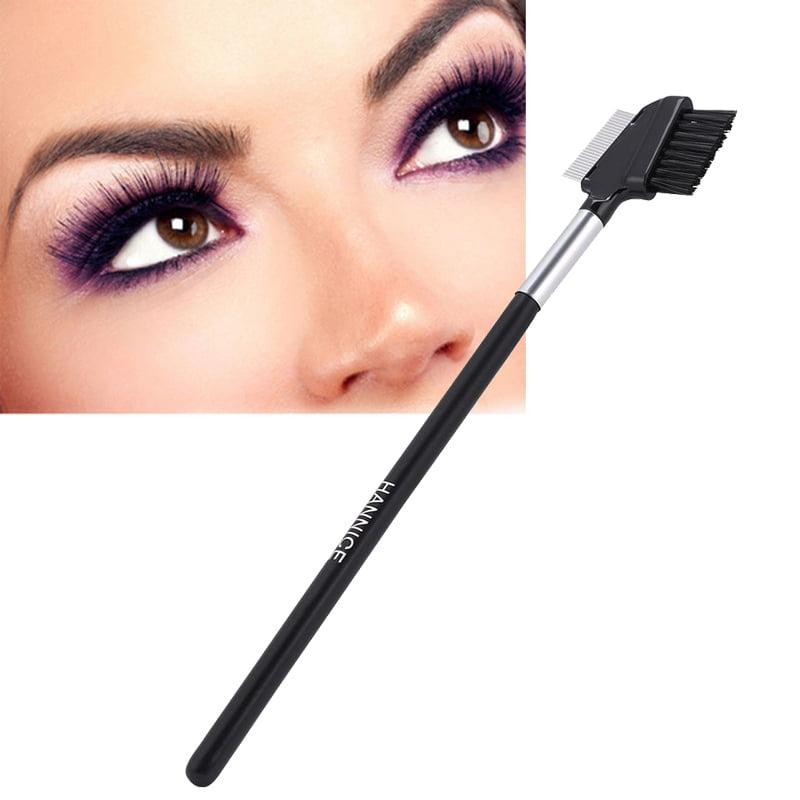 Stainless Steel Eyebrow Eyelash Comb Brush Eyelash Extension Cosmetic Makeup  Metal Eyelash Comb and Eyebrow Brush For Eyeliner, Define Lash & Brow Cosmetics