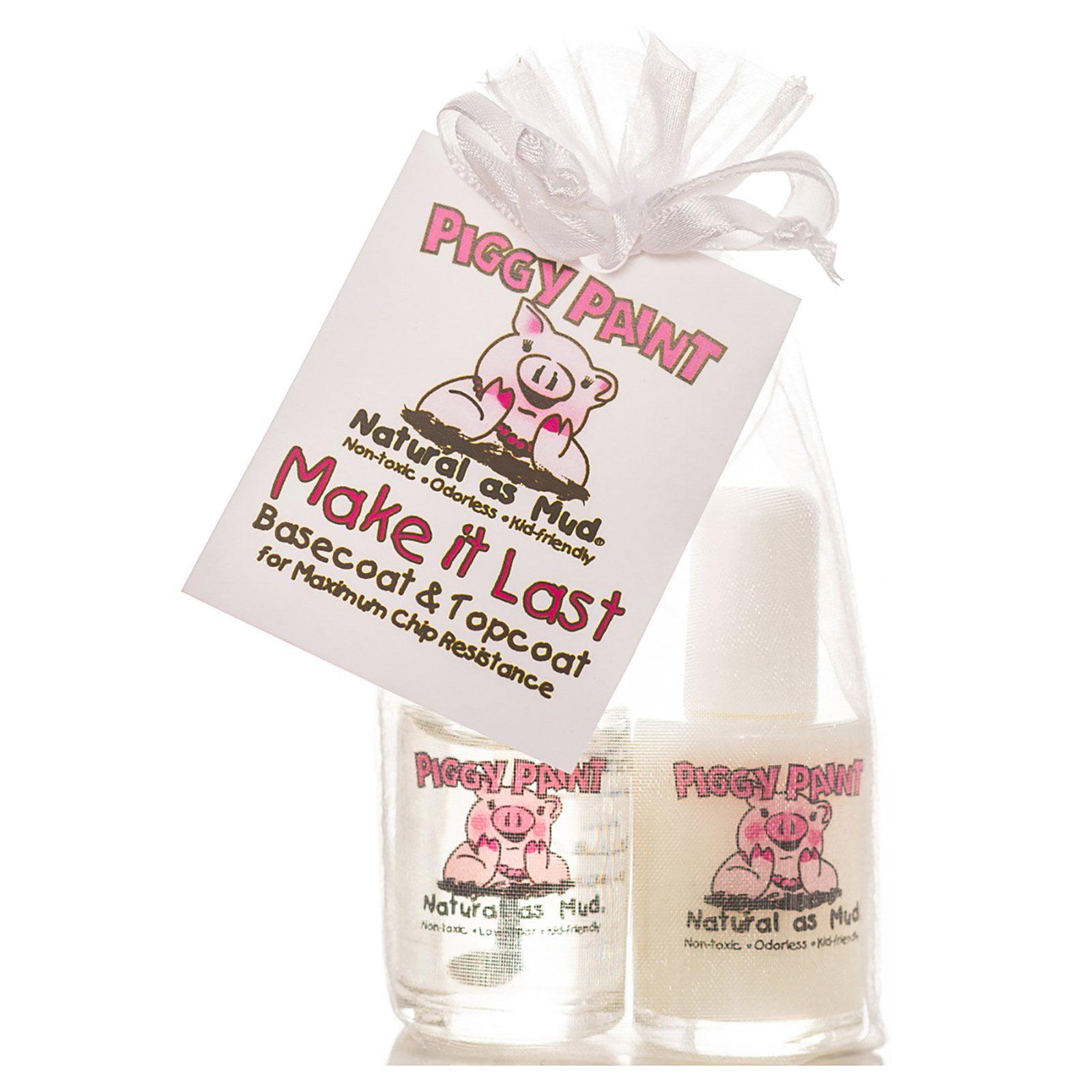 Piggy Paint, Make it Last, Basecoat & Topcoat Nail Polish, 2 Bottles, 0.5 fl oz (15 ml) Each(pack of 2)