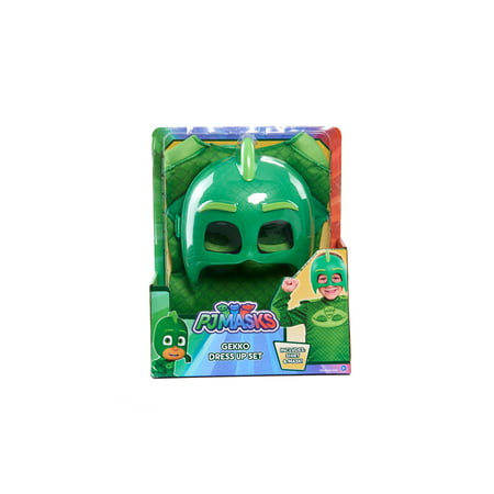 PJ Mask Deluxe Dress Up top & Mask Set - Gekko - Geico Costume