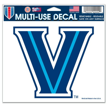State Wildcats Cap - Villanova Wildcats Official NCAA 4 inch x 6 inch Car Window Cling Decal by WinCraft