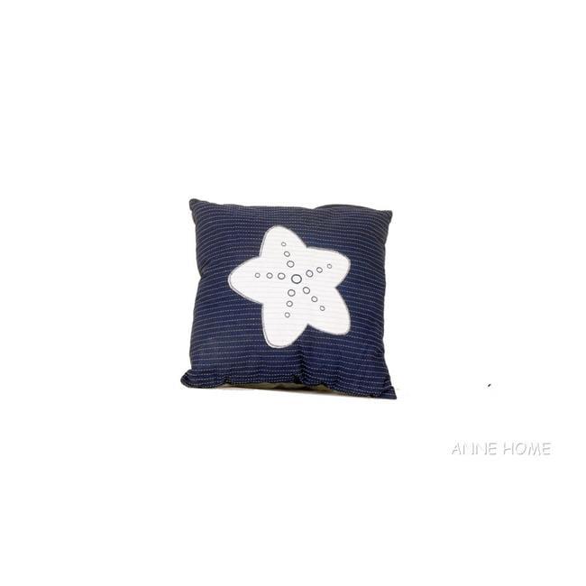 Old Modern Handicrafts AB002 Blue Pillow, White Star by Old Modern Handicrafts
