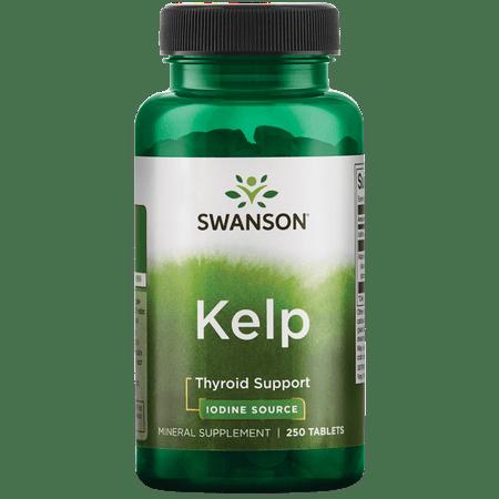 Swanson Atlantic Sea Kelp Iodine Source for Thyroid Support 225 Mcg 250 Tablets