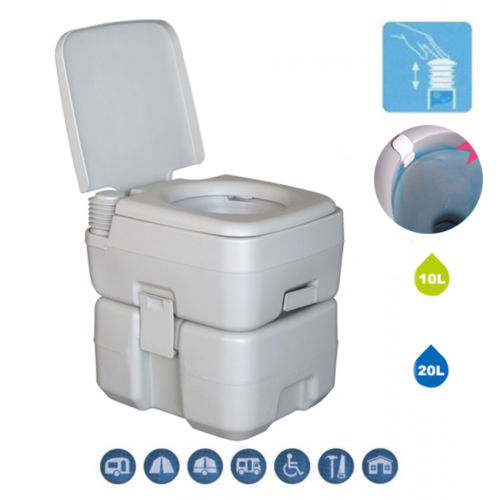 UBesGoo 5 Gallon/20L Portable Camping Toilet, Removable Camper Porta Potty Commode, for Travel, Camping, RV, Boating,Hiking & Other Outdoor or Indoor Activites