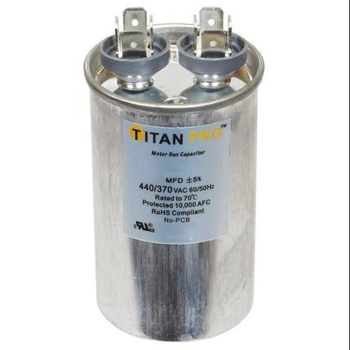 TITAN PRO TRCF10 Motor Run Capacitor, 10 MFD, 2-7/8 In. H