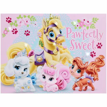 Disney Princess Palace Pets LED Canvas Wall Art