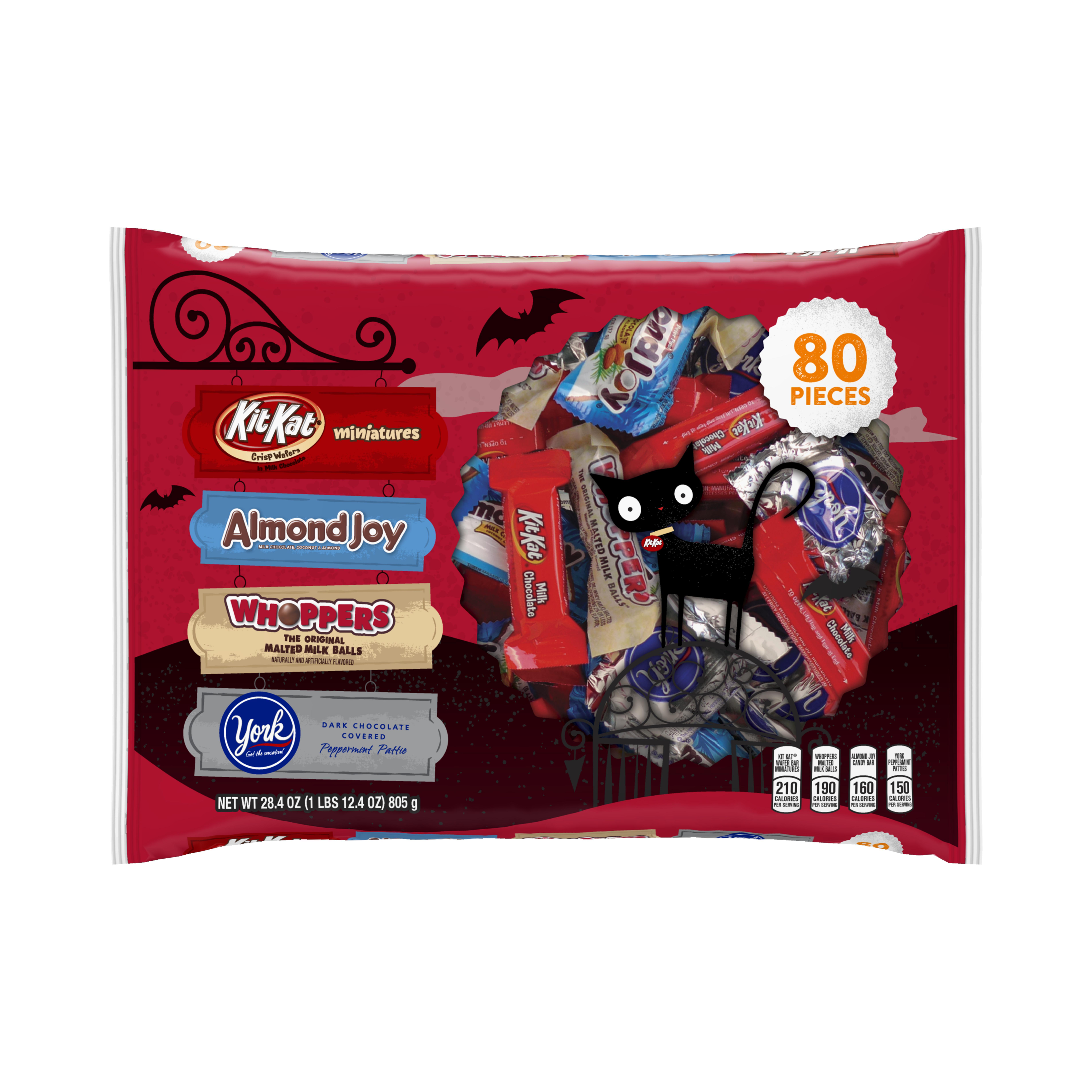 Hershey Halloween Snack Size Assortment, 80 Pieces