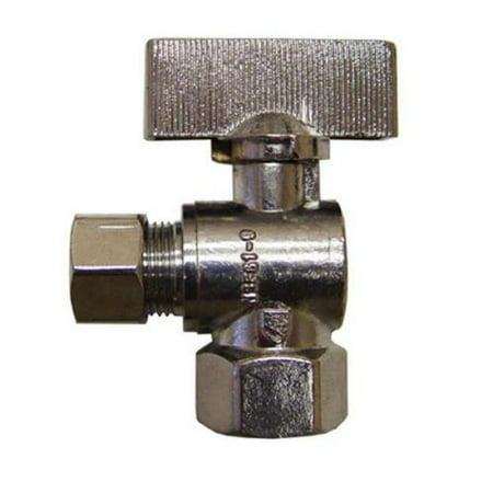 1/4 Turn Angle Supply Valve - JMF Lead Free 1/4 Turn Angled Sink and Closet Supply Valve  I.D. 3/8