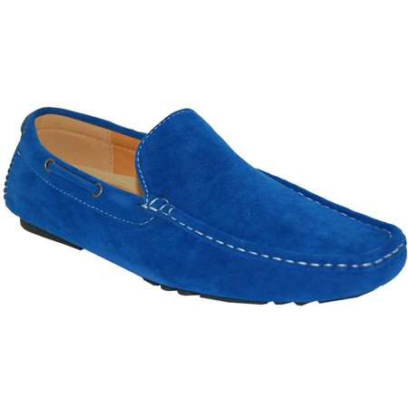 KRAZY SHOE ARTISTS Sexy Blue Man Slip On Driving (Sexy Eden Adult Shoes)