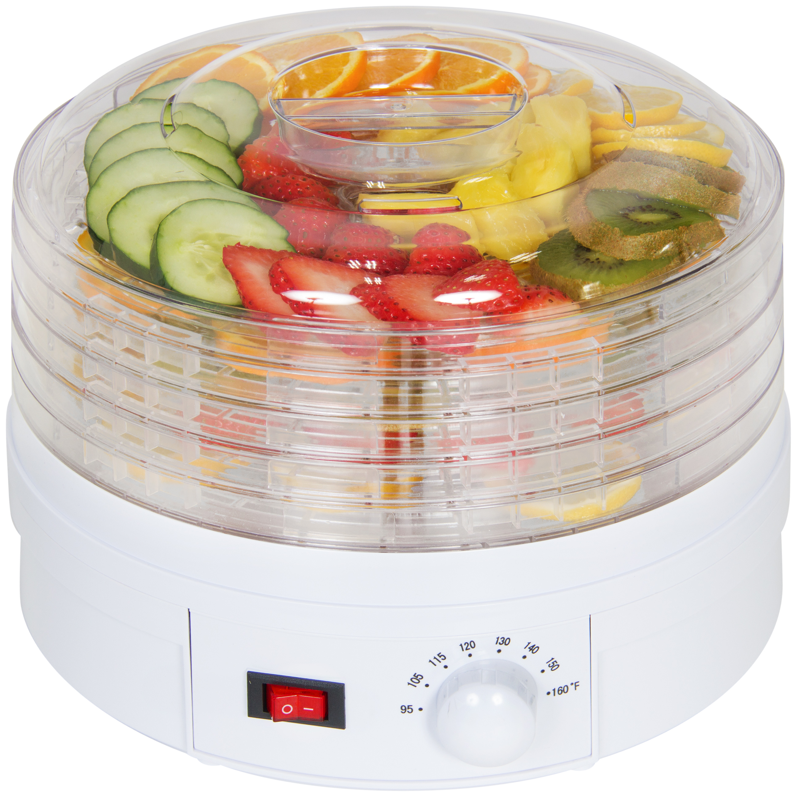 Best Choice Products 5-Tray Portable Electric Food Dehydrator for Fruit, Meats, Herbs w/ Adjustable Thermostat - White