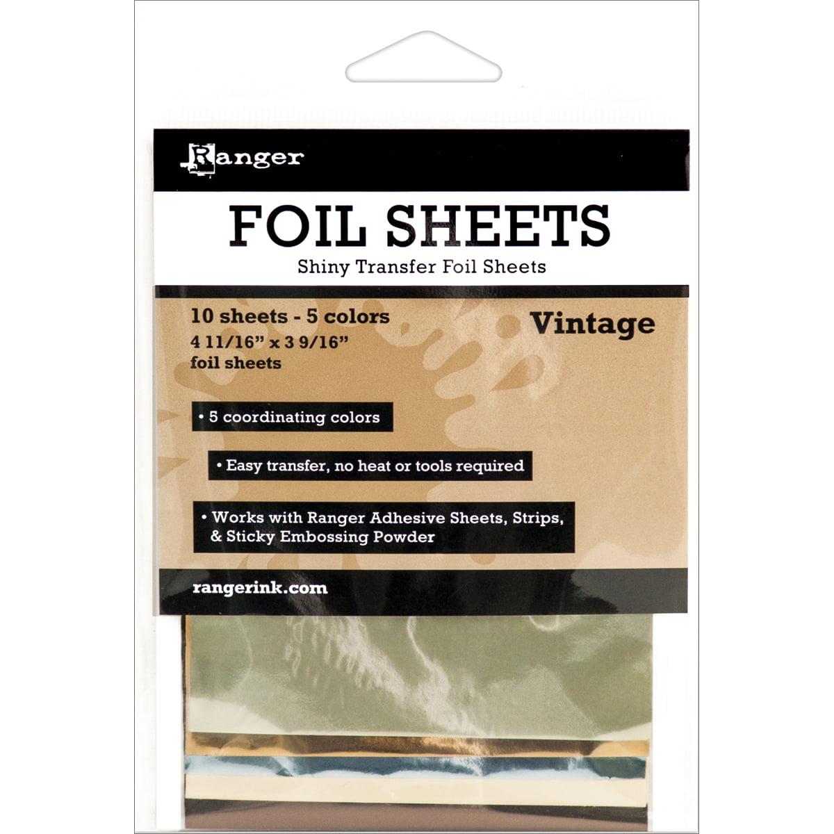 "Ranger Inkssentials Foil Sheets 4.69/""x3.56/"" 10//pkg-vintage 4.69/""x3.56/"""