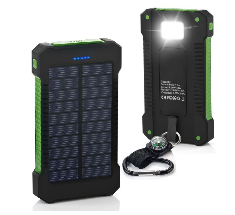 Click here to buy 300000mAh Dual USB Portable Solar Battery Charger Solar Power Bank by konxa.