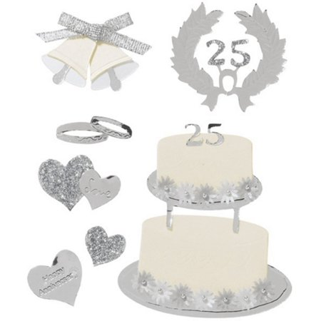 Boutique Themed Ornate Stickers: Silver Anniversary