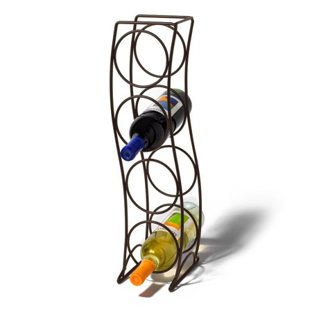 Spectrum Curve 4 Bottle Wine Rack - Venetian Bronze