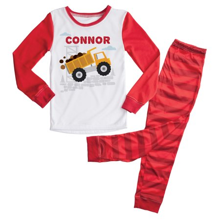 Personalized Mens Pajamas (Personalized Red Truck Boys Toddler Pajamas - 2T, 3T, 4T,)
