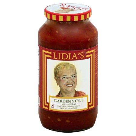 Lidias Garden Style Pasta Sauce, 25 Oz (Pack of (Garden Style Pasta Sauce)