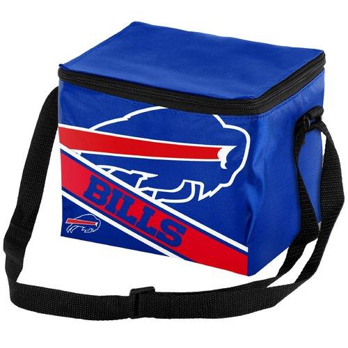Forever Collectibles Big Logo Stripe 6 Pack Cooler, Buffalo Bills