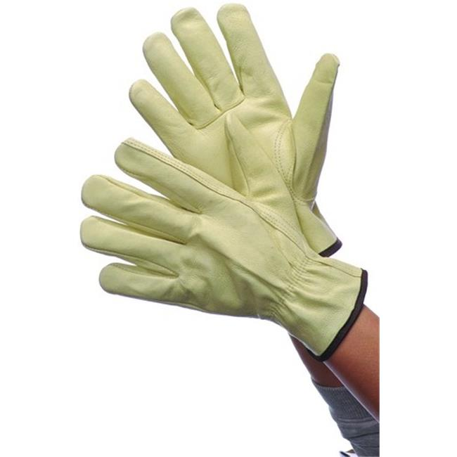 DDI 1819607 Leather Cowhide Driver Gloves With Lining, XL