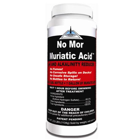 No Mor Muriatic Acid Swimming Pool Ph Reducer 2 5 Pounds