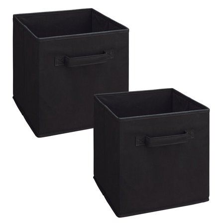 8298 Cubeicals Fabric Drawer, Black, 2-Pack, Compliments any ClosetMaid Cubeicals Storage Organizer. By ClosetMaid (Closet Maid Black Drawer)