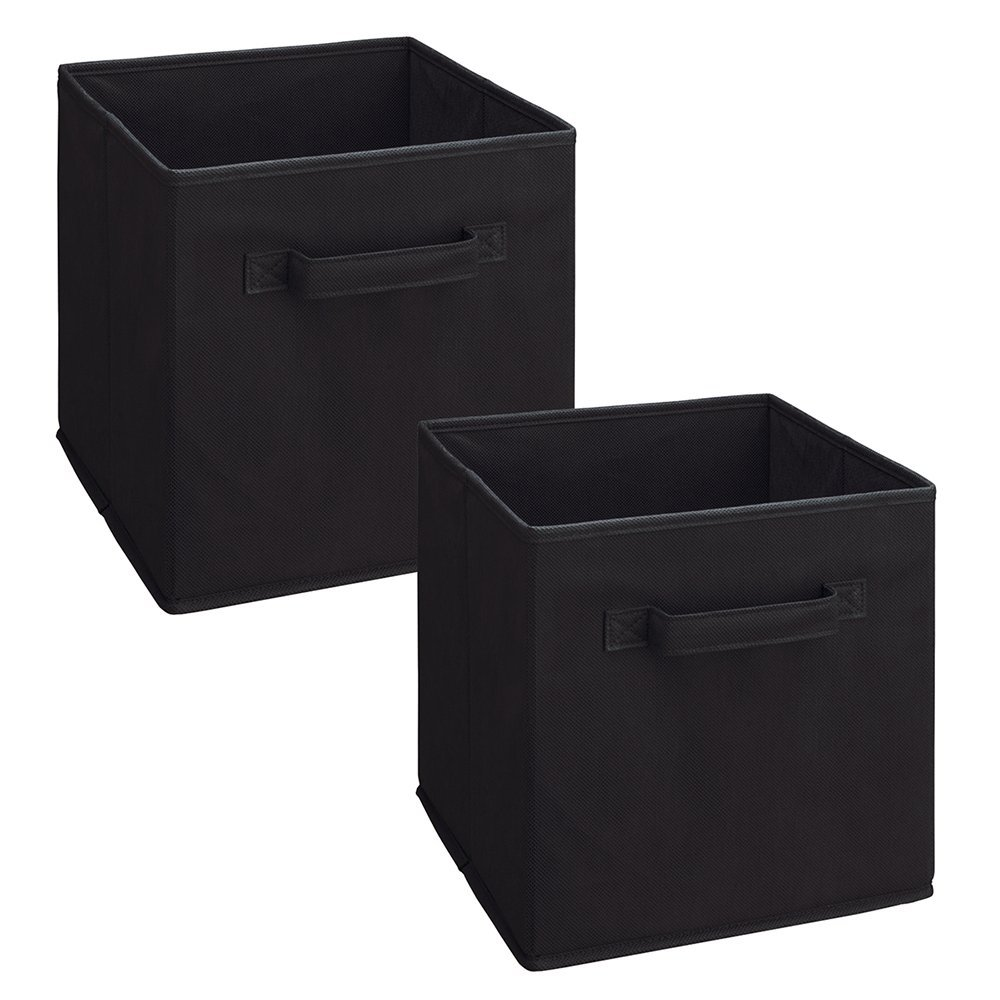 Good 8298 Cubeicals Fabric Drawer, Black, 2 Pack, Compliments Any ClosetMaid  Cubeicals Storage