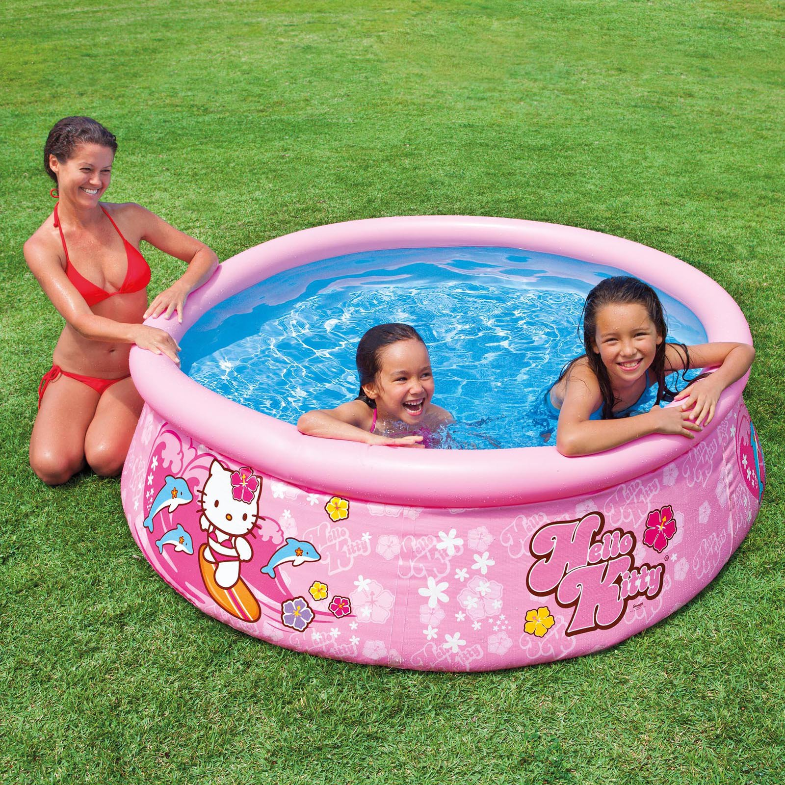 Intex Hello Kitty Easy Set Inflatable Instant Kids Swimming Pool | 28104EP    Walmart.com