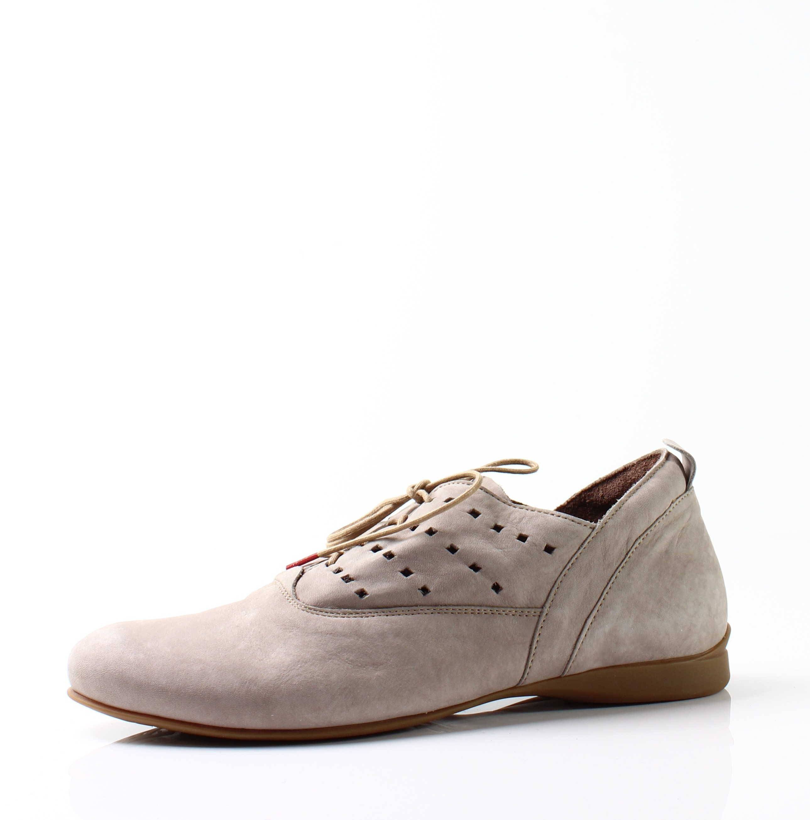 Think! New Kork Beige Women's Shoes Size 7M Lace-Up Suede Oxfords by Think!