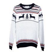Men's Winter New Fashion Crew Neck Windproof Cuff Knit Sweater (Size S / 34)