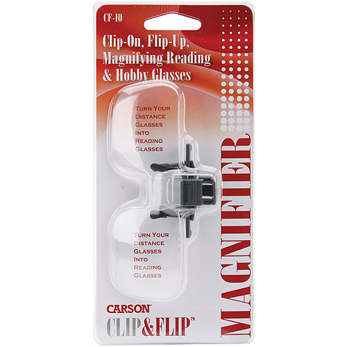 Carson Optical Clip & Flip Magnifying Glasses