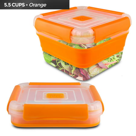 Cool Gear Expandable Air Tight Food Storage Lunch Box 5.5 CUP BPA-free Orange - Cool Halloween Food Names