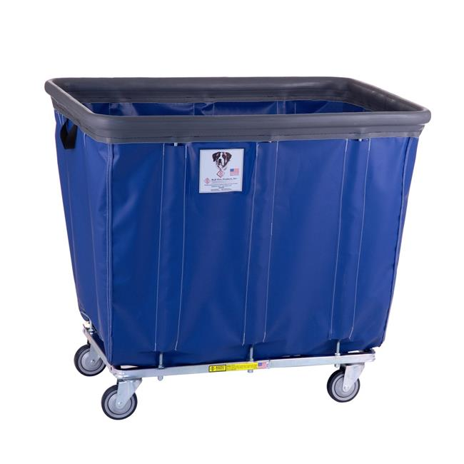 R&B Wire Products 414SOBC-BL 14 Bushel Vinyl Bumper Truck All Swivel Casters, Blue - 43 x 31.75 x 37.5 in.