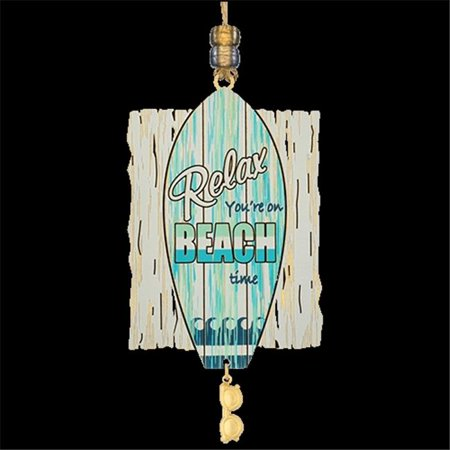 Chem Art 59456 Relax Youre on Beach Time Handcrafted Christmas Ornament ()