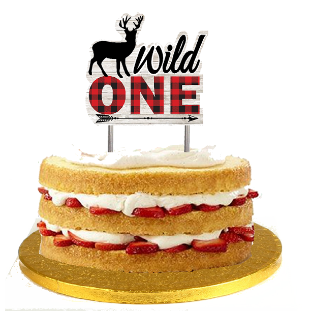 Outstanding Wild One First Birthday Cake Decoration Banner Cake Topper Personalised Birthday Cards Veneteletsinfo