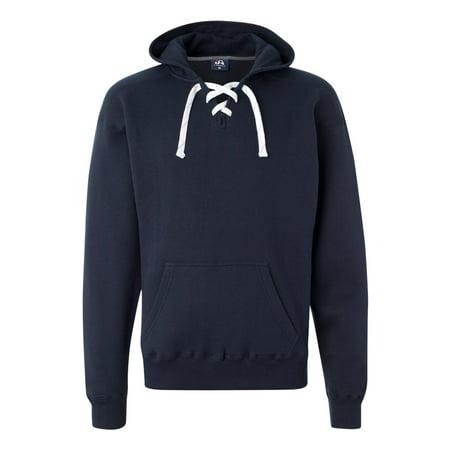 J. America Men's Sport Lace Hooded Sweatshirt, Style 8830 America Mens Sport Lace