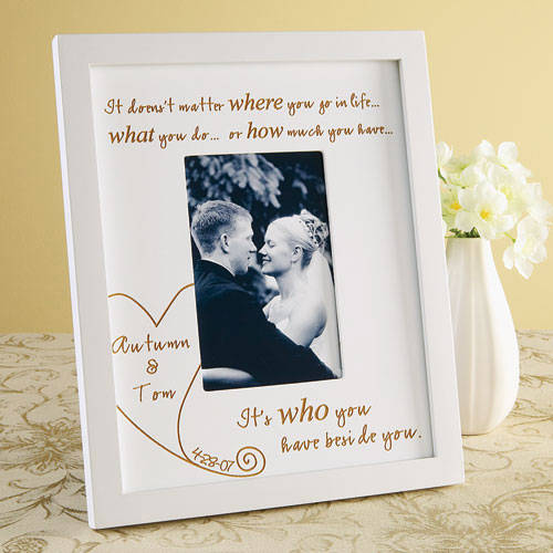 Personalized ''Beside You'' Wood Frame