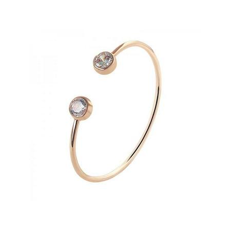 Cuff Platinum Bracelet (Lavaport Women Classic Simple Cuff Bracelet Platinum Plated Bracelet )