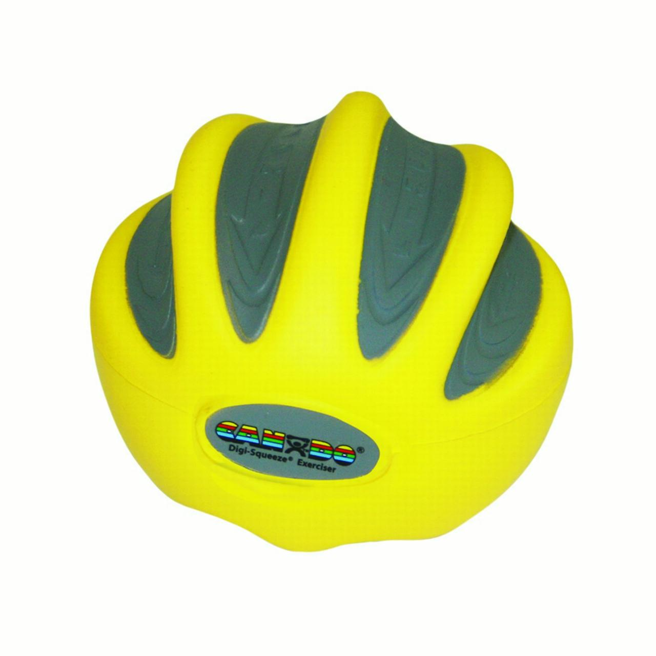 CanDo Digi-Squeeze Hand Exerciser, Medium, Yellow, X-Light