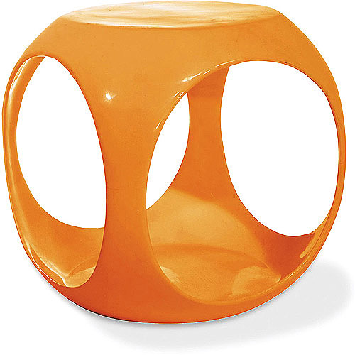 Slick Cube Occasional End Table, Multiple Colors