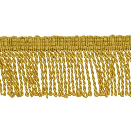 - 2 Inch Long  GOLD Thin Bullion Fringe Trim, Style# BFT2 Color: C4, Sold By the Yard