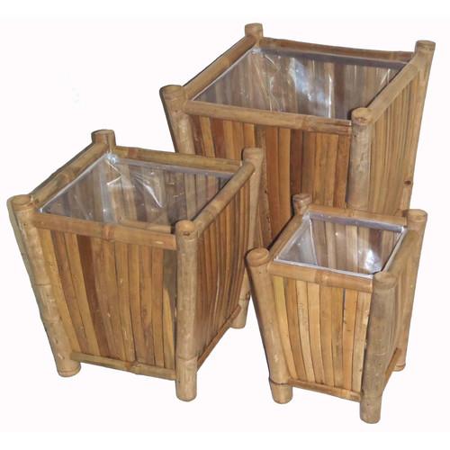 Bamboo54 3 Piece Square Planter Box Set