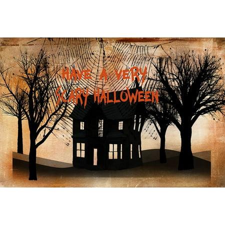 Very Scary Halloween Poster Print by Ramona Murdock