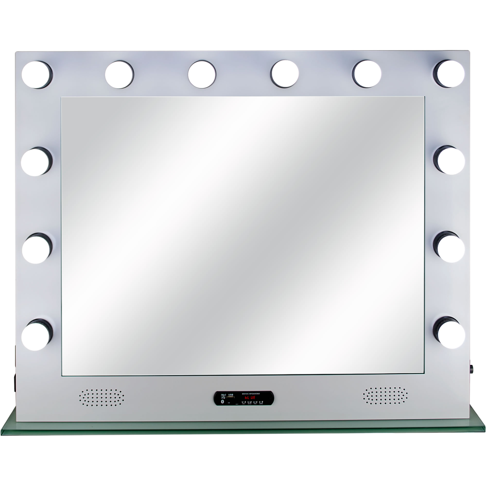White 12 Dimmable Led Light Metal Body And Glass Base