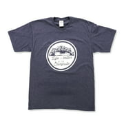 Life is Better at The Campsite Navy Blue T-Shirt Soft Cotton Blend, Comfortable Material, Great for a Gym Shirt - XXL (53216)
