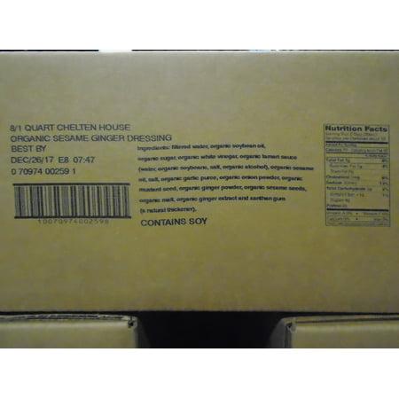 - (Price/Pack)Chelten House FS43PQCH Organic Sesame Ginger Dressing