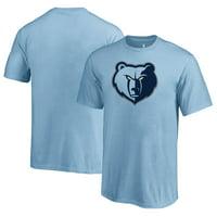 Memphis Grizzlies Fanatics Branded Youth Primary Logo T-Shirt - Light Blue