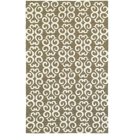 Tommy Bahama Atrium Area Rug 51108 Brown Waves Curls ()